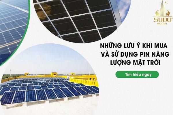 Kinh nghiệm mua pin năng lượng mặt trời