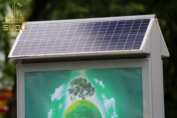 Thùng rác điện mặt trời